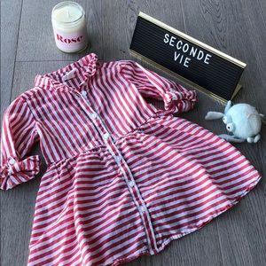 H&M striped shirt dress ⭐️